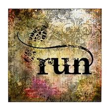 Run by Vetro Jewelry & Designs Tile Coaster