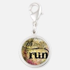 Run by Vetro Jewelry & Designs Silver Round Charm