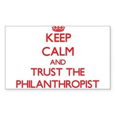 Keep Calm and Trust the Philanthropist Decal