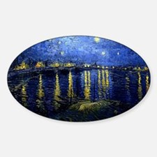 Starry Night Over the Rhone, Famous Sticker (Oval)