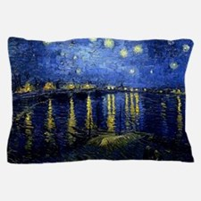 Starry Night Over the Rhone, Famous Pa Pillow Case