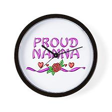 Proud Nanna Wall Clock