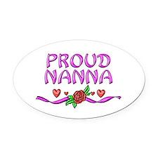 Proud Nanna Oval Car Magnet
