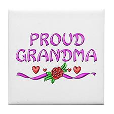 Proud Grandma Tile Coaster