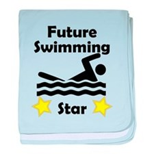 Future Swimming Star baby blanket