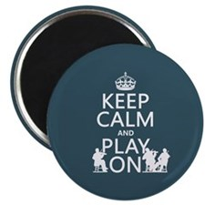 Keep Calm and Play On (strings) Magnets
