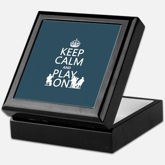 Keep Calm and Play On (strings) Keepsake Box