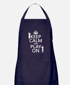 Keep Calm and Play On (flute) Apron (dark)