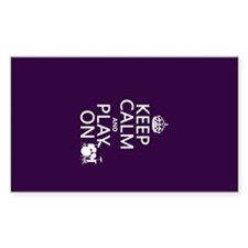 Keep Calm and Play On (drums) Decal