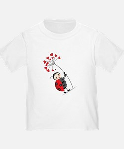 ladybug with heart tree T-Shirt