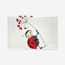 ladybug with heart tree Magnets