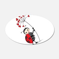 ladybug with heart tree Wall Decal