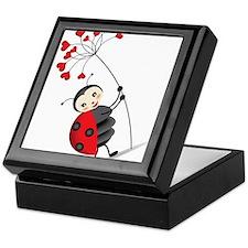 ladybug with heart tree Keepsake Box