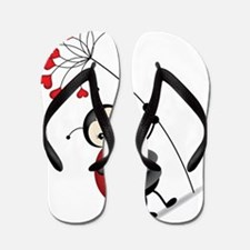 ladybug with heart tree Flip Flops
