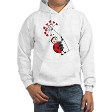 ladybug with heart tree Hoodie