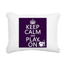 Keep Calm and Play On (drums) Rectangular Canvas P