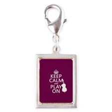 Keep Calm and Play On (double bass) Charms