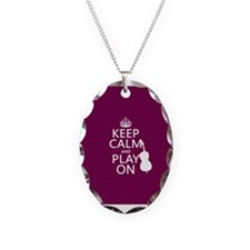 Keep Calm and Play On (double bass) Necklace