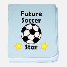 Future Soccer Star baby blanket