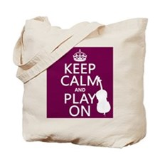 Keep Calm and Play On (double bass) Tote Bag