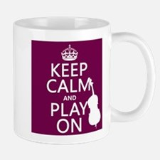 Keep Calm and Play On (double bass) Mugs