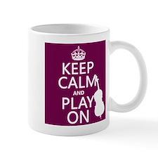 Keep Calm and Play On (double bass) Mugs