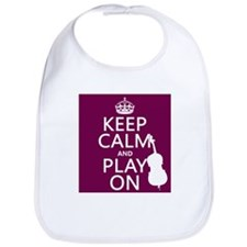 Keep Calm and Play On (double bass) Bib