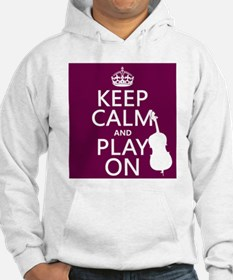 Keep Calm and Play On (double bass) Jumper Hoody