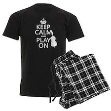 Keep Calm and Play On (double bass) pajamas