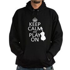 Keep Calm and Play On (double bass) Hoody