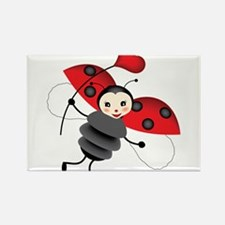 Flying Ladybug with Heart Magnets
