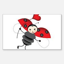 Flying Ladybug with Heart Decal
