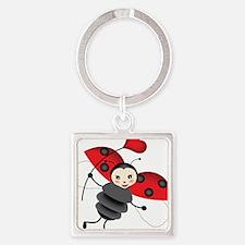 Flying Ladybug with Heart Keychains