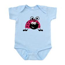Happy Pink Ladybug Body Suit