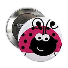 "Happy Pink Ladybug 2.25"" Button"