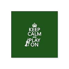 Keep Calm and Play On (cornet) Sticker