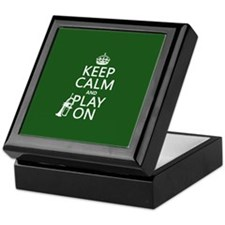Keep Calm and Play On (cornet) Keepsake Box