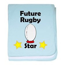 Future Rugby Star baby blanket