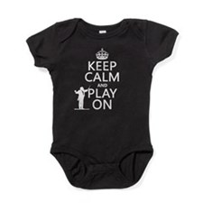 Keep Calm and Play On (conductor) Baby Bodysuit