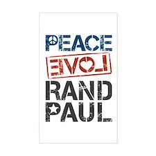 Peace Love Rand Paul Decal