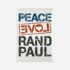 Peace Love Rand Paul Rectangle Magnet