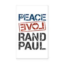Peace Love Rand Paul Rectangle Car Magnet