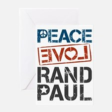 Peace Love Rand Paul Greeting Card