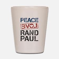 Peace Love Rand Paul Shot Glass