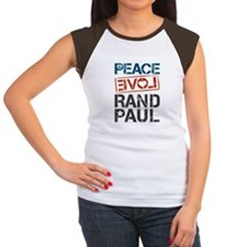Peace Love Rand Paul Women's Cap Sleeve T-Shirt