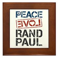 Peace Love Rand Paul Framed Tile