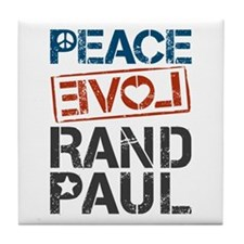 Peace Love Rand Paul Tile Coaster