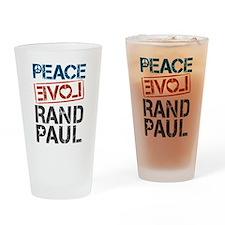 Peace Love Rand Paul Drinking Glass