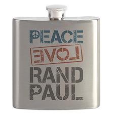 Peace Love Rand Paul Flask