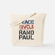 Peace Love Rand Paul Tote Bag